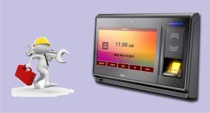 instalación controles acceso digitales