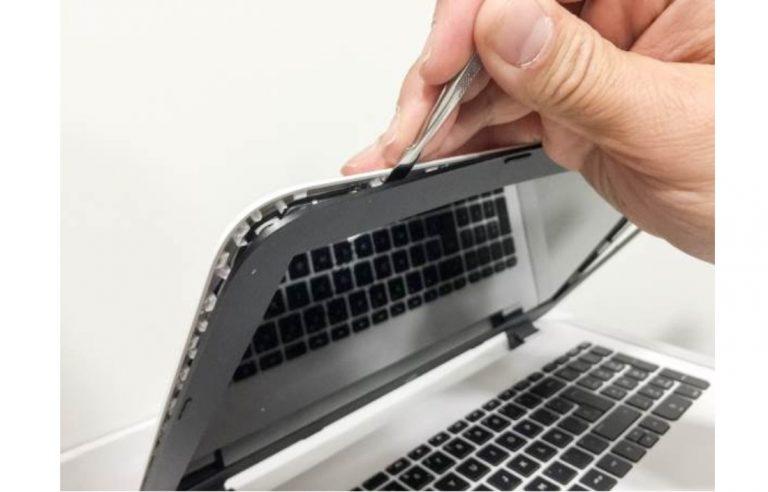 reparación marco pantalla ordenador portátil