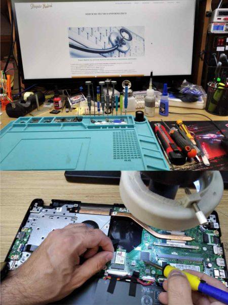 reparación electrónica de ordenador portátil